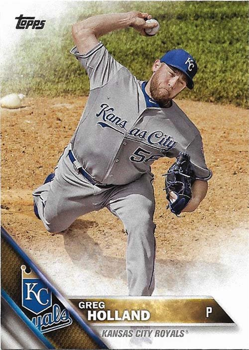Greg Holland 2016 Topps #454 Kansas City Royals Baseball Card