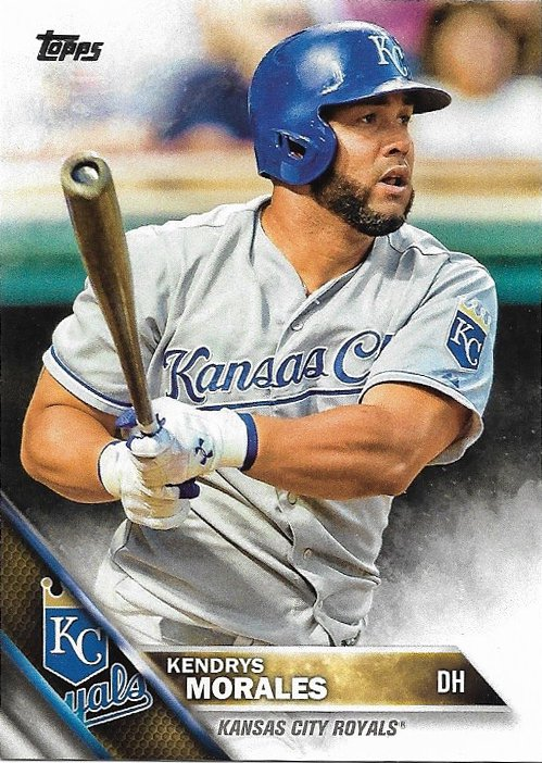 Kendrys Morales 2016 Topps #70 Kansas City Royals Baseball Card