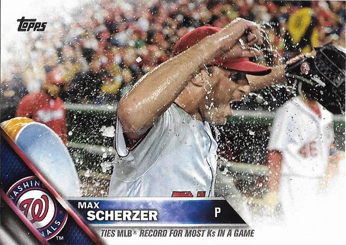 Max Scherzer 2016 Topps Update #US169 Washington Nationals Baseball Card