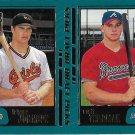 Tripper Johnson-Scott Thorman 2001 Topps Rookie #354 Orioles/Braves Baseball Card