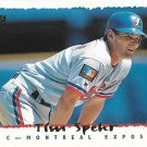 Tim Spehr 1995 Topps #134 Montreal Expos Baseball Card