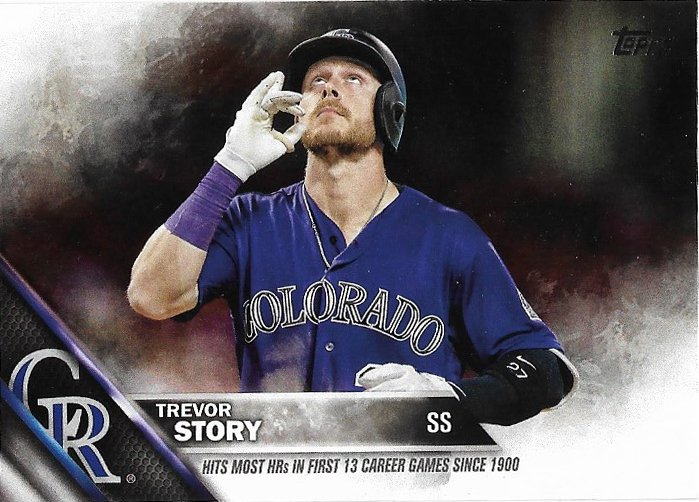 Trevor Story 2016 Topps Update #US114 Colorado Rockies Baseball Card