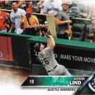Adam Lind 2016 Topps Update #US94 Seattle Mariners Baseball Card