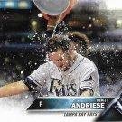 Matt Andriese 2016 Topps Update #US180 Tampa Bay Rays Baseball Card