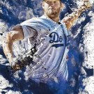Clayton Kershaw 2016 Topps Fire #F-7 Los Angeles Dodgers Baseball Card