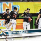 Miami Marlins 2017 Topps #217 Baseball Team Card