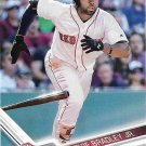 Jackie Bradley Jr. 2017 Topps #245 Boston Red Sox Baseball Card