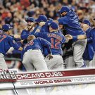 Chicago Cubs World Series Champion 2017 Topps #206 Baseball Team Card