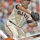 Matt Moore 2017 Topps #179 San Francisco Giants Baseball Card