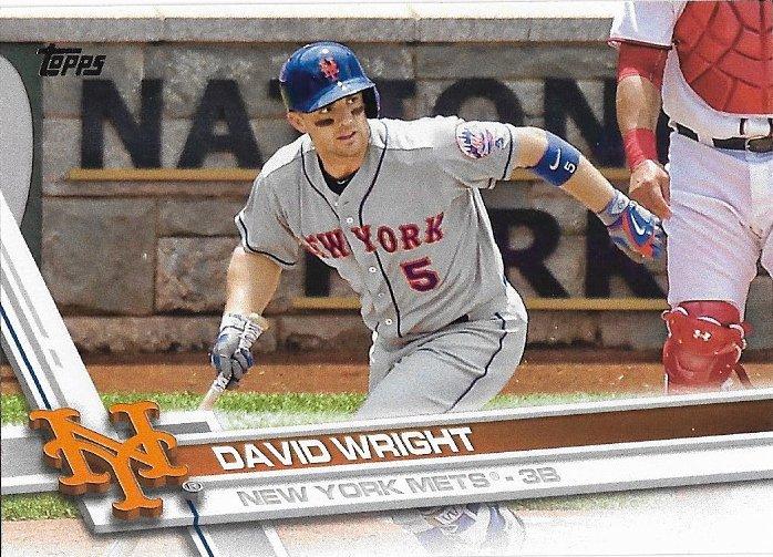 David Wright 2017 Topps #19 New York Mets Baseball Card