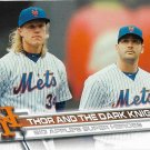 Noah Syndergaard-Matt Harvey 2017 Topps #32 New York Mets Baseball Card