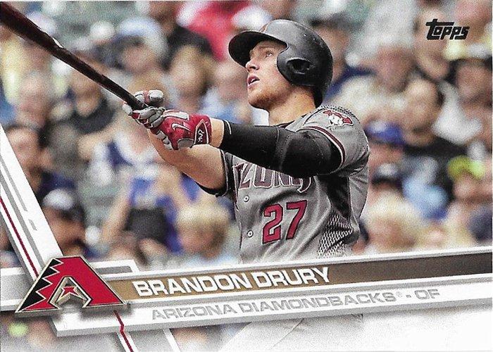 Brandon Drury 2017 Topps #470 Arizona Diamondbacks Baseball Card