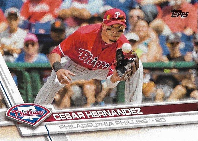 Cesar Hernandez 2017 Topps #222 Philadelphia Phillies Baseball Card