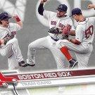 Boston Red Sox 2017 Topps #497 Baseball Team Card