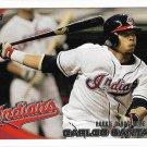 Carlos Santana 2010 Topps Update Rookie Debut #US-307 Cleveland Indians Baseball Card