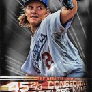 Zack Greinke 2016 Topps Greatest Streaks #GS-03 Los Angeles Dodgers Baseball Card