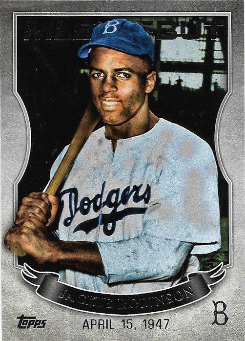 Jackie Robinson 2016 Topps MLB Debut #MLBD-30 Brooklyn Dodgers Baseball Card