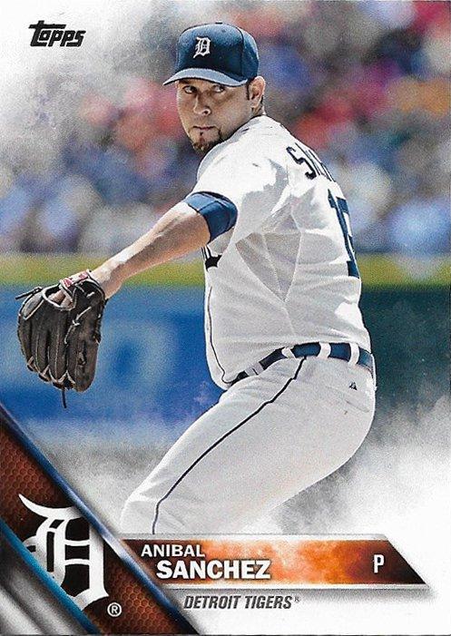 Anibal Sanchez 2016 Topps #69 Detroit Tigers Baseball Card