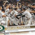 Oakland Athletics 2017 Topps #558 Baseball Team Card