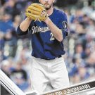 Taylor Jungmann 2017 Topps #579 Milwaukee Brewers Baseball Card