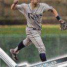 Brad Miller 2017 Topps #356 Tampa Bay Rays Baseball Card