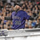 Jason Motte 2017 Topps #559 Colorado Rockies Baseball Card