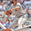 Jeff Samardzija 2017 Topps #463 San Francisco Giants Baseball Card