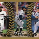 Barry Bonds, Manny Ramirez, Larry Walker 1999 Topps #455 Baseball Card