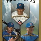 Roosevelt Brown, Dernell Stenson, Vernon Wells 1999 Topps Prospects #436 Baseball Card