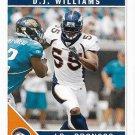 D.J. Williams 2011 Score #86 Denver Broncos Football Card