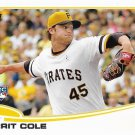 Gerrit Cole 2013 Topps Update Rookie #US150 Pittsburgh Pirates Baseball Card
