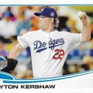 Clayton Kershaw 2013 Topps Update #US106 Los Angeles Dodgers Baseball Card