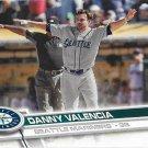 Danny Valencia 2017 Topps #499 Seattle Mariners Baseball Card