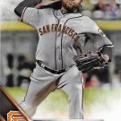 Johnny Cueto 2016 Topps #416 San Francisco Giants Baseball Card