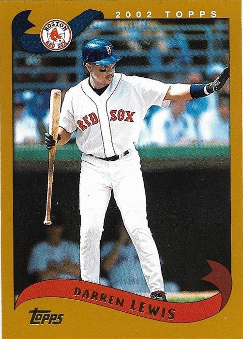 Darren Lewis 2002 Topps #276 Boston Red Sox Baseball Card