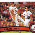 Allen Craig 2011 Topps Update #US255 St. Louis Cardinals Baseball Card