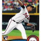Randall Delgado 2011 Topps Update Rookie #US22 Atlanta Braves Baseball Card