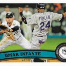 Omar Infante 2011 Topps Update #US149 Florida Marlins Baseball Card