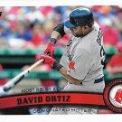 David Ortiz 2011 Topps Update #US166 Boston Red Sox Baseball Card