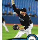 Jon Rauch 2011 Topps Update #US121 Toronto Blue Jays Baseball Card
