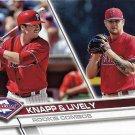Andrew Knapp, Ben Lively 2017 Topps Update Rookie #US160 Philadelphia Phillies Baseball Card