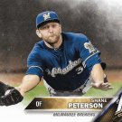 Shane Peterson 2016 Topps #672 Milwaukee Brewers Baseball Card