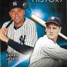 Derek Jeter, Lou Gehrig Eclipsing History #EH-9 New York Yankees Baseball Card