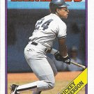 Rickey Henderson 1988 Topps #60 New York Yankees Baseball Card