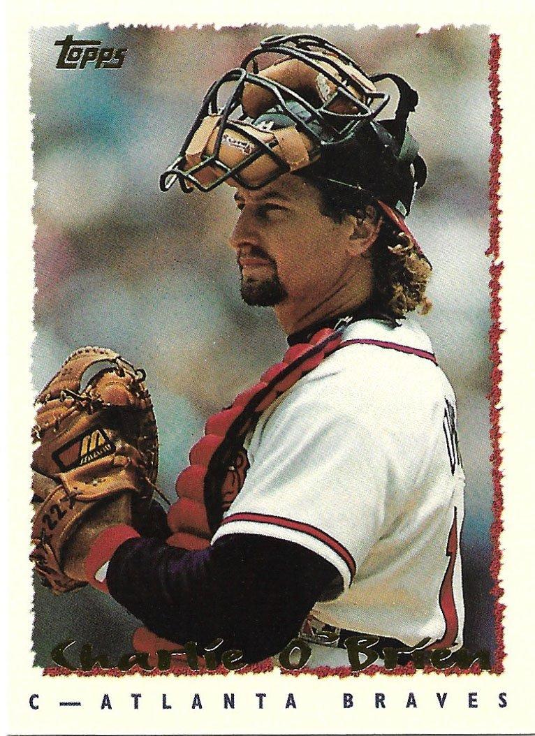 Charlie O'Brien 1995 Topps #379 Atlanta Braves Baseball Card