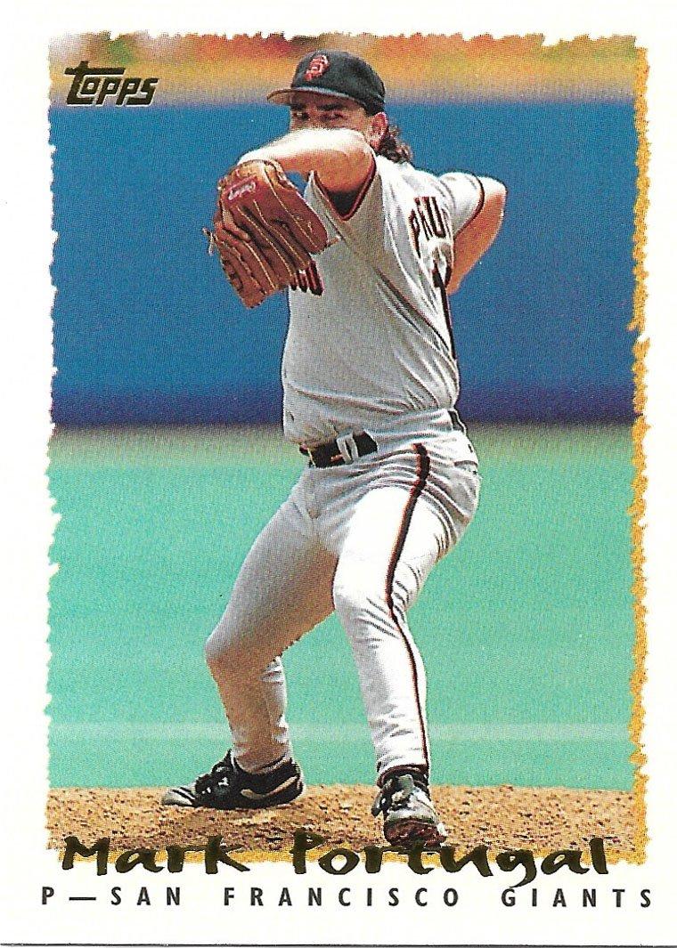 Mark Portugal 1995 Topps #155 San Francisco Giants Baseball Card