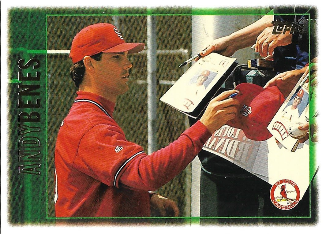 Andy Benes 1997 Topps #190 St. Louis Cardinals Baseball Card