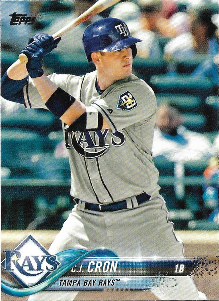 C.J. Cron 2018 Topps #571 Tampa Bay Rays Baseball Card