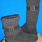 UGG Australia Women's CAMBRIDGE Black Suede Knit Boots Size US 5 NEW # 1003175