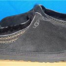 UGG Australia NEUMAN Men's Black Suede Sheepskin Slippers Size US 8 NEW #3234